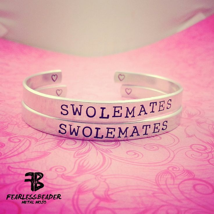 SwoleMates Bracelet Set, Workout Bracelets, Fitness Bracelets, Aluminum Cuff Bracelets, Bodybuilder Jewelry, Weightlifting Jewelry, Workout by TheFearlessBeader on Etsy