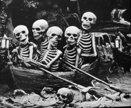 Greatful DeadBones, Skeletons Boats, Macabre, Dark, Skull Skeletons, Row Row, Art Full, Pirates Skeletons, Halloween
