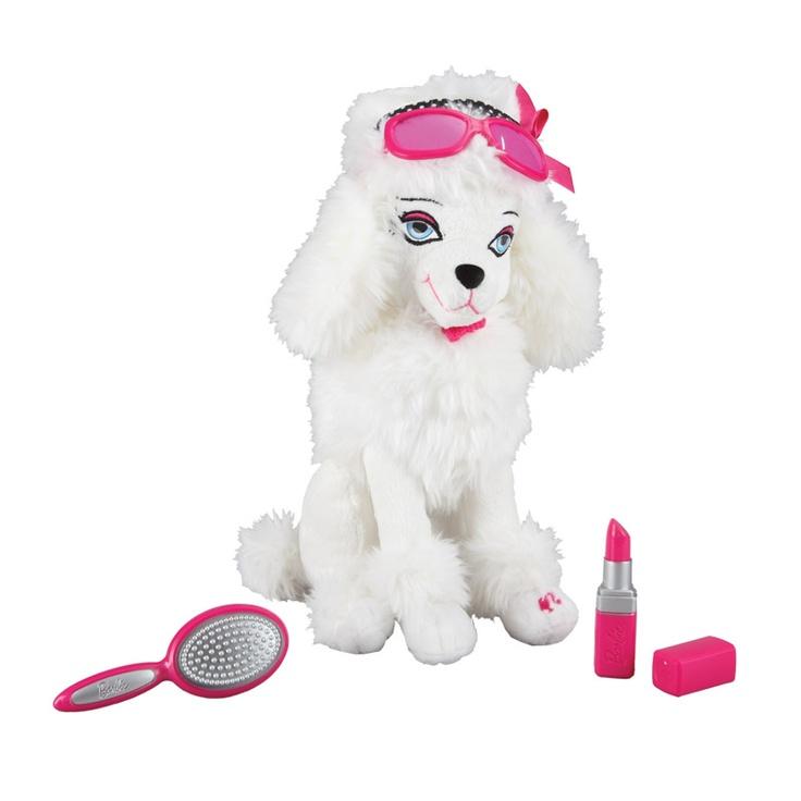 Barbie'nin minik dostları çok sevimli…Kokoş köpek Sequin! Pembe rujunu sürünce çok mutlu oluyor… Barbie'nin köpekleri ve kedisi Toyzz Shop oyuncak mağazalarında...