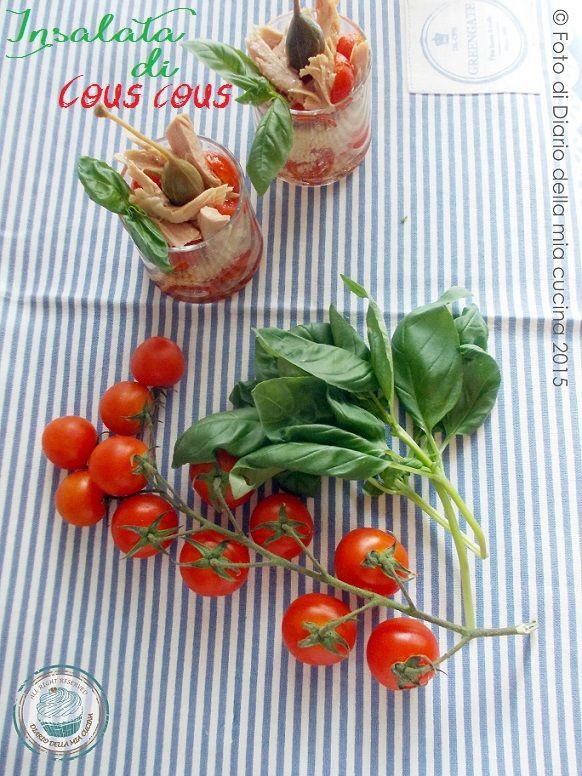 #ricetta #insalate #piattifreddi    #bicchierini   #verrine   #ricettefacili   Insalata di cous cous con ventresca e pomodorini