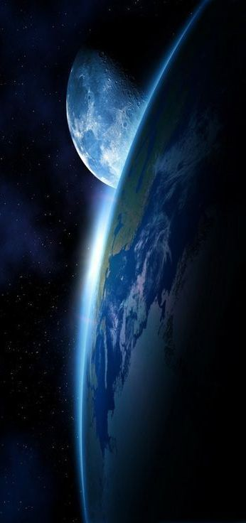Love this space photo of the earth and moon. ;)   ♡