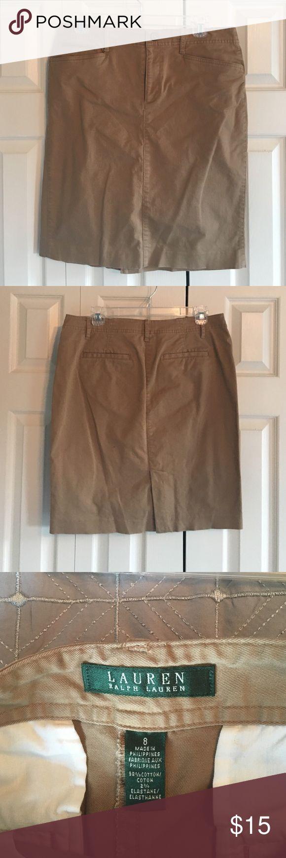 Lauren by Ralph Laure Fitted Khaki Skirt Fitted khaki skirt with pockets Ralph Lauren Skirts Mini