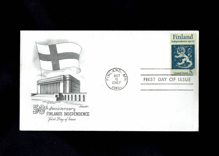 US 1334 Finland Independence Oct 6 1967 Finland MN First Day Cover lot #F1334-1 by VicsStamps on Etsy