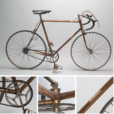 Italy's Fiorenzo Magni (1920-2012) rode this bike, manufactured by Wilier-Triestina, in the 1949 Tour de France. In each of the six Tours de France he competed, he wore the yellow jersey at least once.