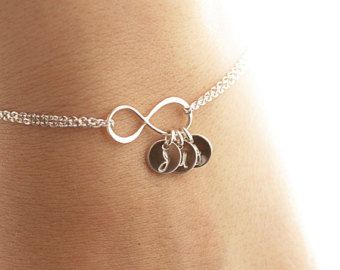 Personalized Infinity Bracelet Infinity Initial by BijouxbyMeg