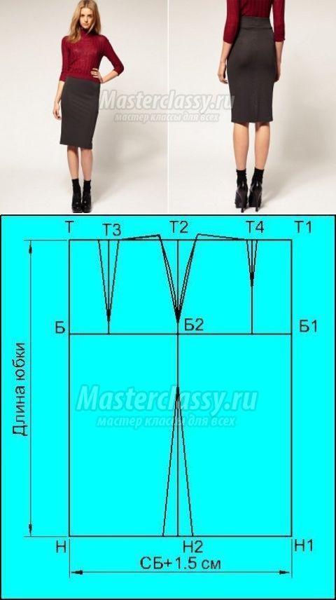 Построить  юбки карандаш