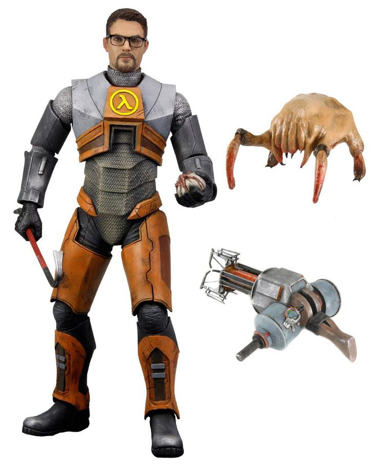This Gordon Freeman Action Figure is Officially Official.: Gordon Freeman, Neca Half, Freeman Action, Action Figures, Freeman Products, Half Life, Delux Action, Halflif, Actionfigur Toys