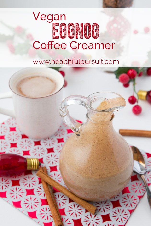 Vegan Eggnog Coffee (or tea) Creamer #vegan #coffee #eggnog