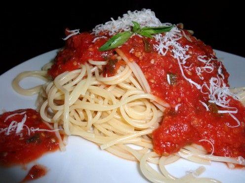 Best Homemade Spaghetti Sauce from Fresh Tomatoes Recipe