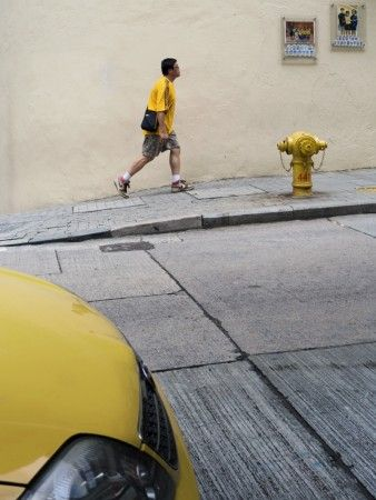 yellow street by Frederick Lim Cung Wei