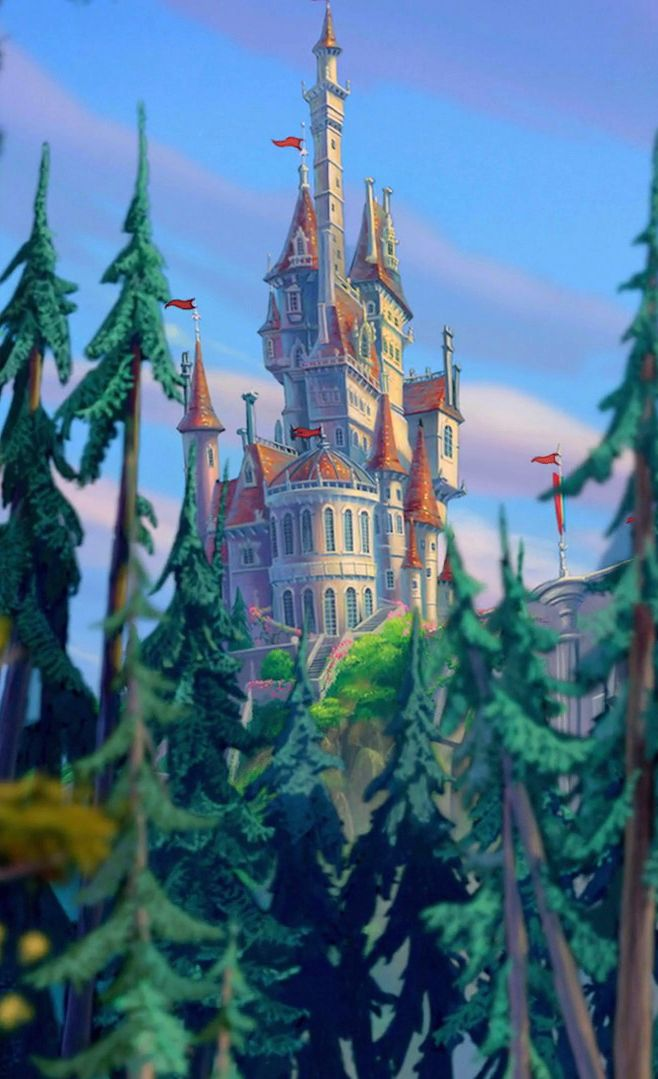 Beast castle | A Dream is a Wish Your Heart Makes | Pinterest