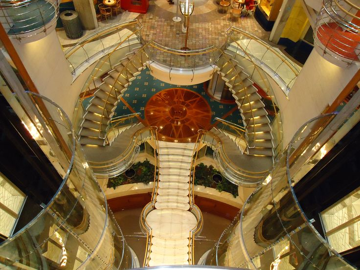 Staircase Inside Royal Caribbean Voyager Of The Seas