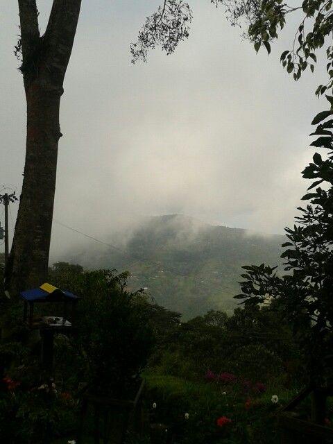Empezando a bajar neblina