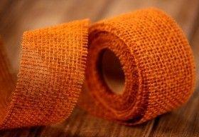 Wstążka jutowa Jacob Collection gęsta (320 g/m2) 5 cm/ 5  m  brązowo-pomarańczowa