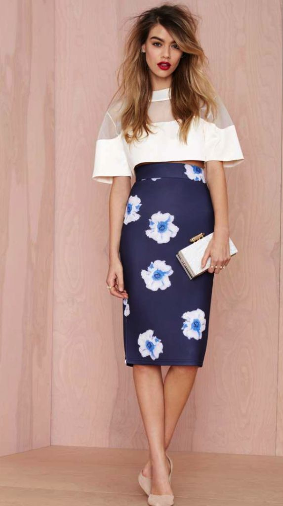 Nasty Gal - pencil skirt and top