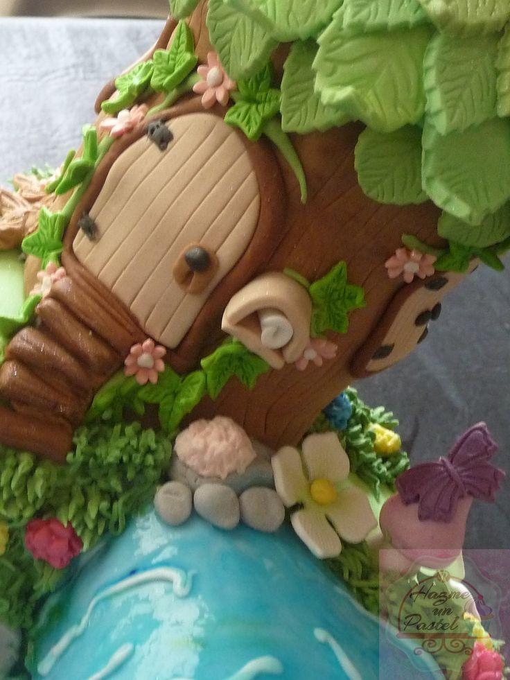 Tinkerbell House Cake Hazme Un Pastel Pinterest