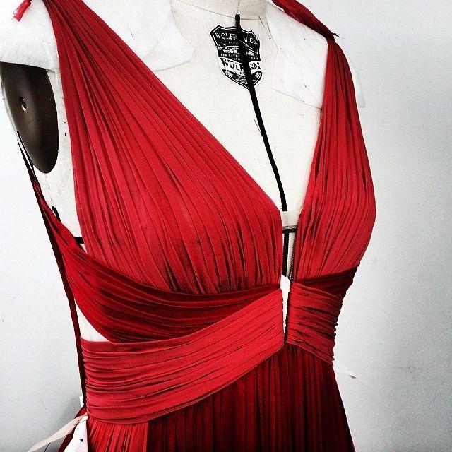 #gillesmendel Resort 2015 draping detail in the making...#JMendel #OMGilles
