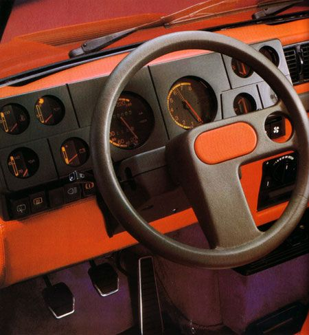 Marcello Gandini, Renault 5 Turbo, 1981. This interior fascinated me