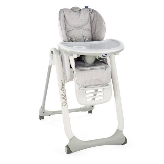 Chicco Chaise Haute Polly 2 Start 4 Roues Happy Silver With Images High Chair Baby High Chair Wooden High Chairs