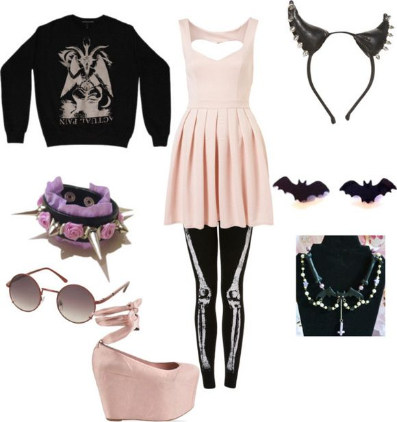 Just the dress the sweater the earings and the leggings!♡