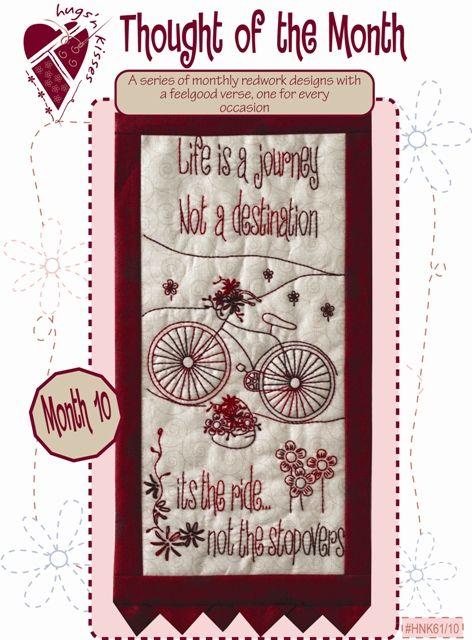 Pattern: Thought Of The Month #10 Life'S A Journey By Hugs 'N Kisses (H-32)