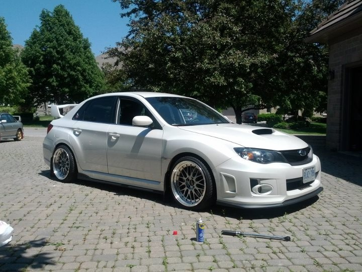White Sti With Bbs Rims Subaru Impreza Wrx Sti Jdm