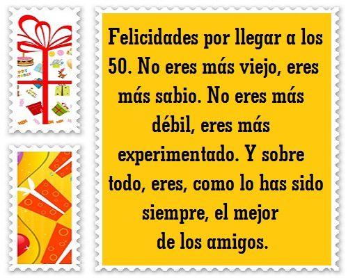 Feliz Aniversario Tia Espanol: Feliz Cumpleaños 50 Años Tarjetas