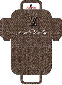 Louis Vuitton: Free Printable Paper Purses