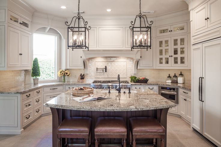 sienna bordeaux granite with white cabinets - Google Search