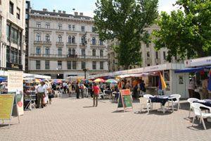 Festive Bookweek June 2013, Budapest, Vörösmarty Square, Ciyt centre