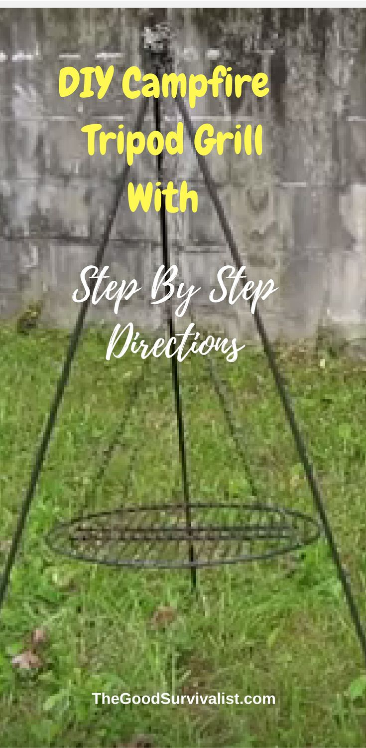 Make this a weekend project and try cooking in your backyard. http://www.thegoodsurvivalist.com/awesome-diy-campfire-tripod-grill/