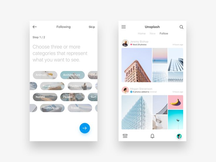 hey all another shot focused on an unsplash feature concept called follower feeds choose