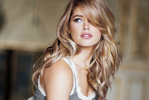 lovely: Haircuts, Hair Colors, Haircolor, Blondes, Beautiful, Hair Cut, Side Bangs, Hair Style, Doutzen Kroes