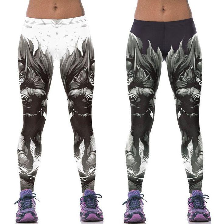 Harajuku women sport leggings 3D gothic batman female fitness gym skinny pants women punk rock legings joggers Plus Size