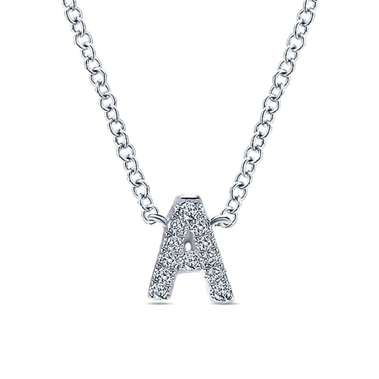 The perfect gift for any woman in your life! Beautiful 14KW Initial Jewelry!    14KW INITIAL JEWELRY - Michaels Jewelers