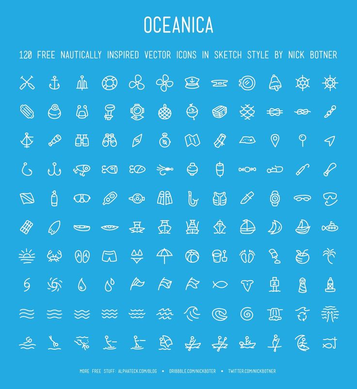 Oceanica - 120 Free Nautical Icons