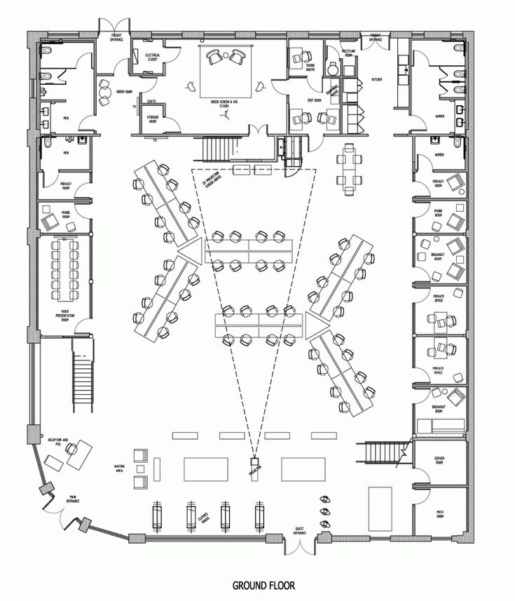 Here's a neat floorplan of the Buzzfeed LA Office / JIDK
