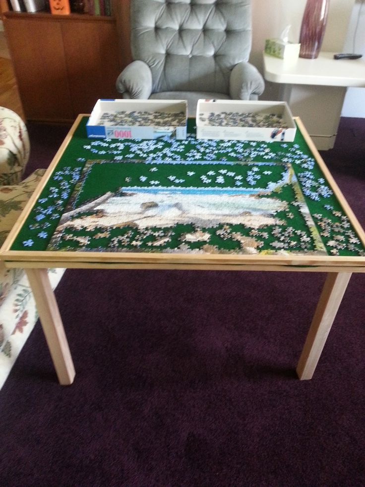 I Made A Jigsaw Puzzle Table For Doing Puzzles. I