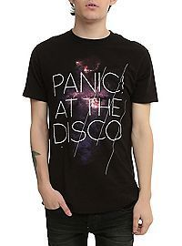 Panic! At The Disco Galaxy Logo T-shirt <--- I just got this one at Hot Topic!