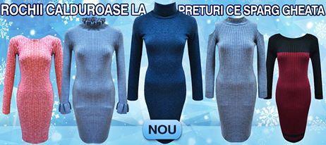 Astăzi, la Adrom Collection s-a efectuat o completare a stocului la rochiile de iarnă cu un nou model călduros, la super preț en-gros de numai 27 de lei. Comandă acum online direct de aici: http://www.adromcollection.ro/produse-noi