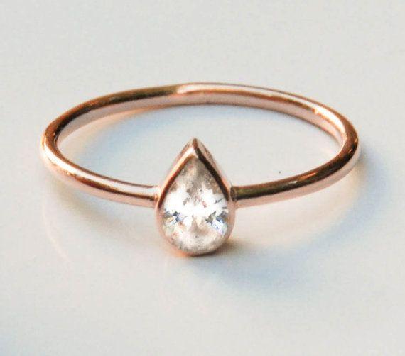 ~ 14K Rose Gold Ring! Diese solide goldene Ring ist so elegant und besonderen Verlobungsring.  ~ 14k rose gold Ring ist auch verfügbar in 14 k solid