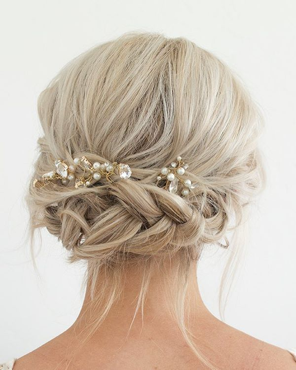 Bridal Hairstyles For Long Hair With Flowers : Best 25 wedding hairstyles veil ideas on pinterest