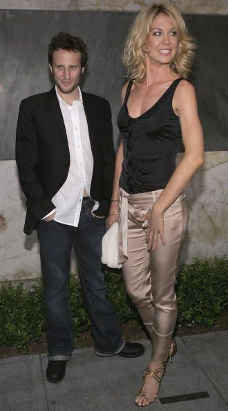 Bodhi Elfman and wife Jenna Elfman attends the 'CBS Stars Party' at the Hammer Museum on July 19 Los Angeles California