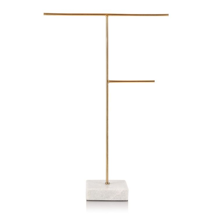 Buy the Large Gold & Marble Jewellery Stand at Oliver Bonas. Enjoy free UK standard delivery for orders over £50.
