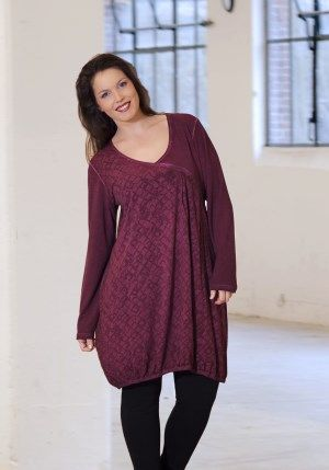 exelle tunic, fabric with delicate washed out effect + burned out pattern
