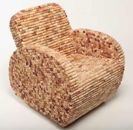 Cork ArmchairIdeas, Recycle Wine Corks, Art, Wine Corks Crafts, Make Furniture, Wine Bottle, Armchairs, Corks Chairs, Drinks