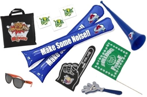 Get your students pumped for the big game!  Some of our sports themed spirit items include hand clappers, thundersticks, temporary tattoos, foam fingers, stadium seat cushions, stadium horns, sunglasses, and so much more!