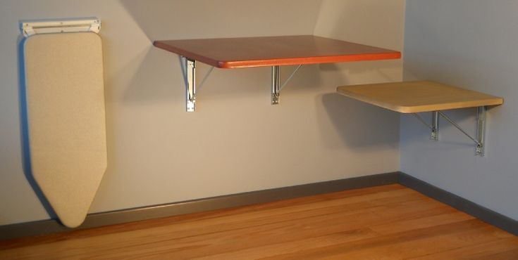 Wall mounted fold down table for campervan google search - Wall mounted flip up table ...