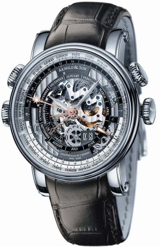 #Arnold & Son Hornet World Timer Skeleton priced at USD 26,000.