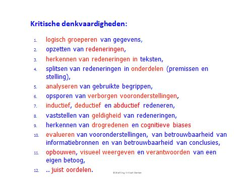 Critical thinking principles (in Dutch)
